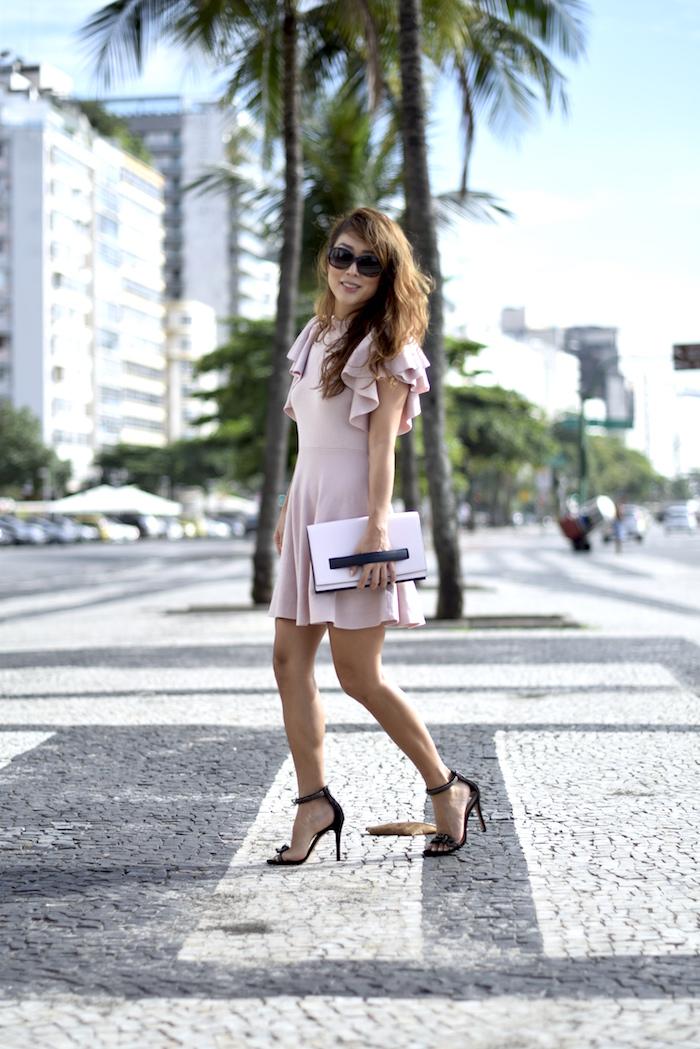 rosa kleid chicwish
