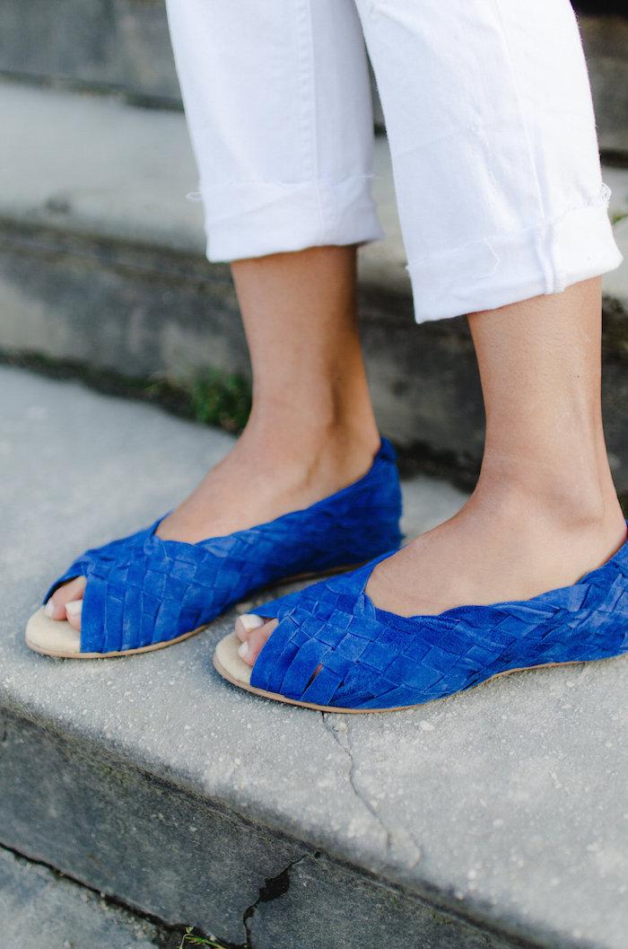 gewebte schuhe blau rio trend