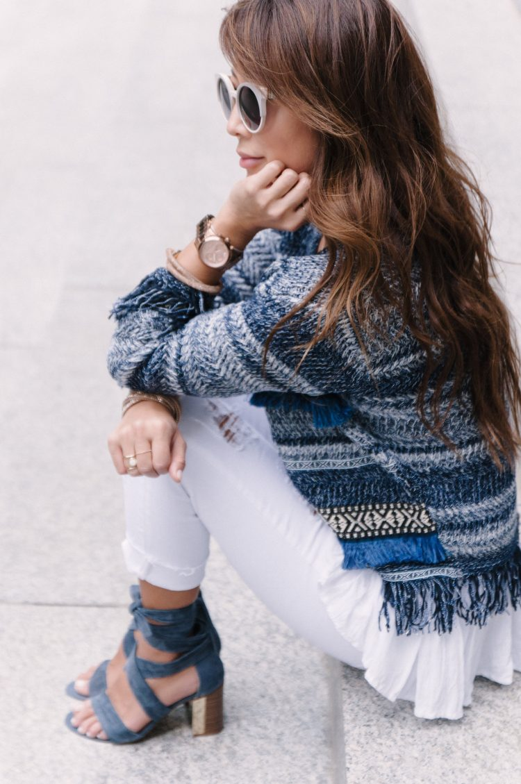 boucle jacke outfit