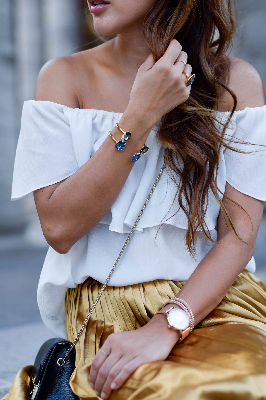 theclassycloud-gold-pleated-skirt-offshoulder (11 von 18)