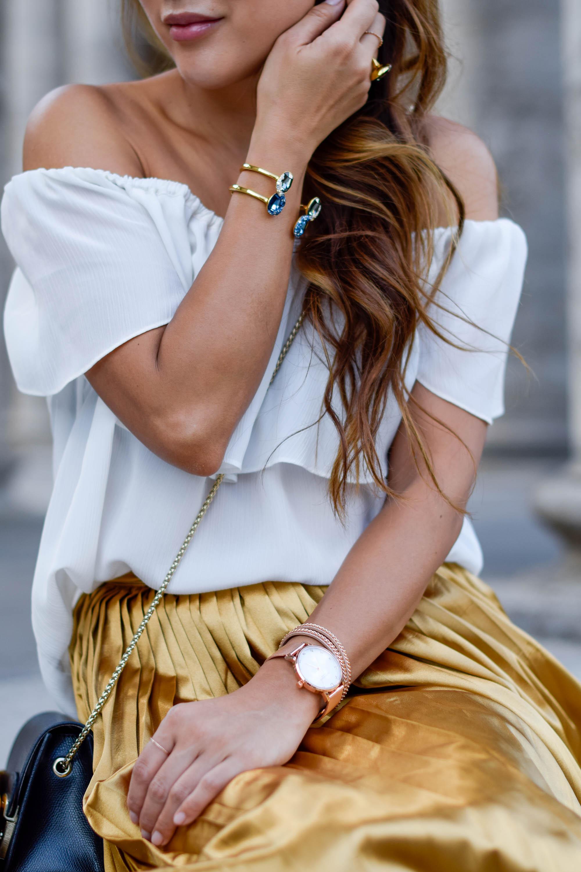 theclassycloud-gold-pleated-skirt-offshoulder (12 von 18)
