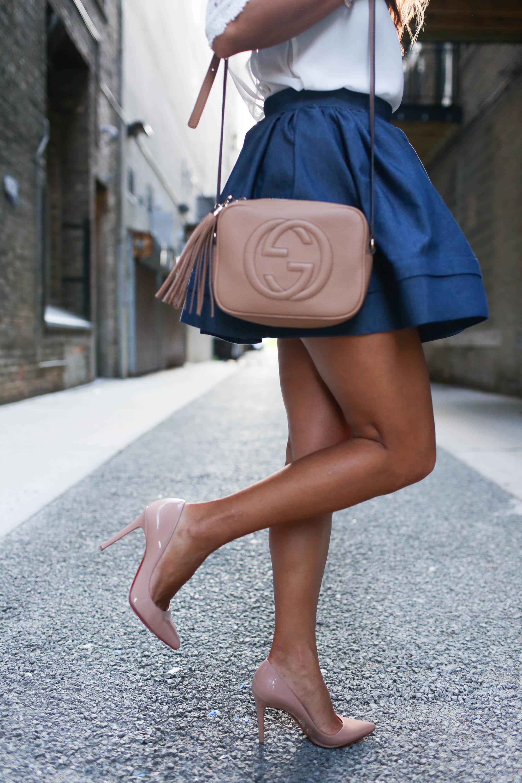 theclassycloud-denim-skirt-gucci-sohobag-chicago-1-von-7