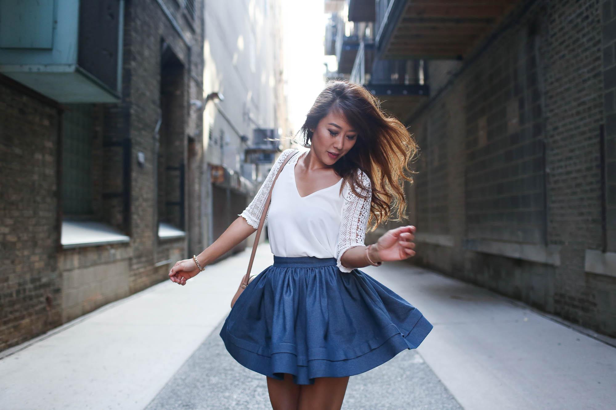 theclassycloud-denim-skirt-gucci-sohobag-chicago-1-von-9