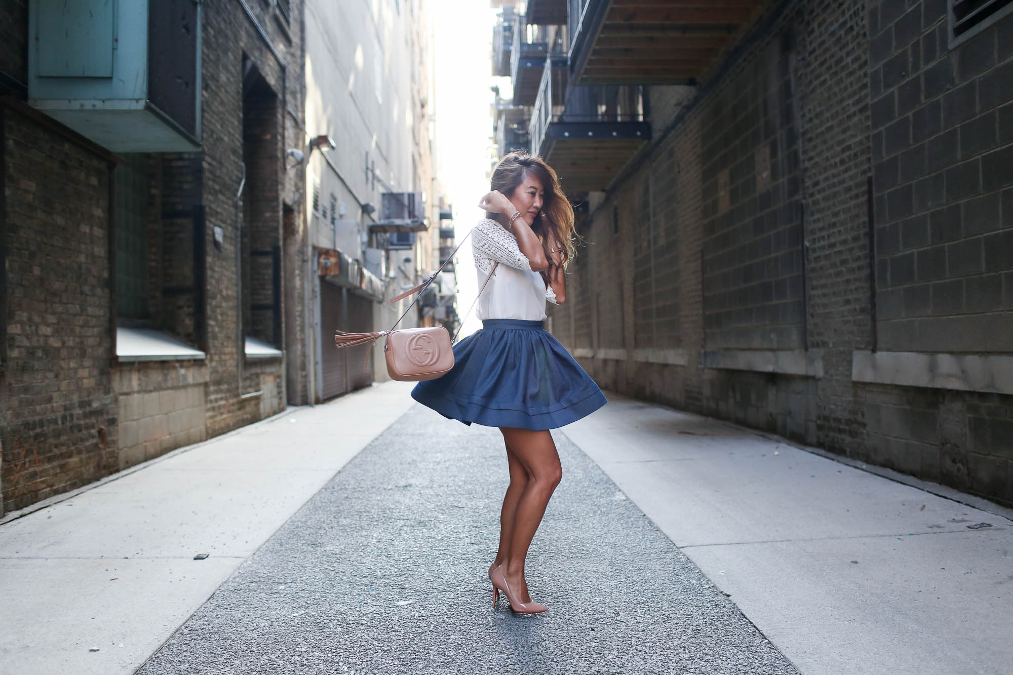 theclassycloud-denim-skirt-gucci-sohobag-chicago-3-von-9