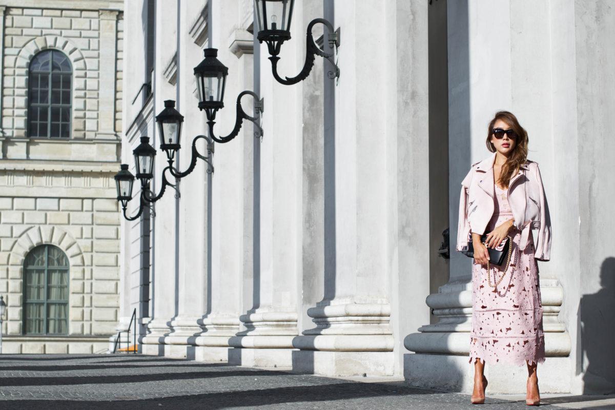Blush Floral Crochet Dress